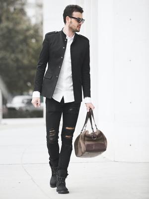 Casual Männeroutfit Streetwear mit Accessoires