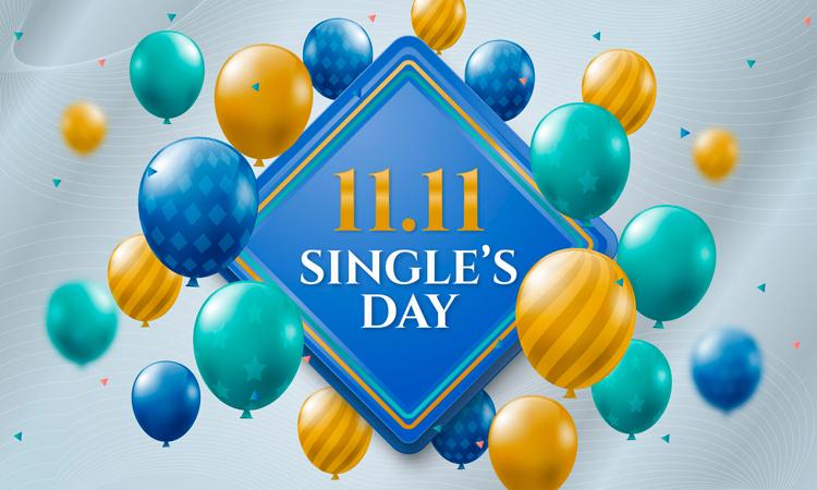 Singles Day Grafik für den Cashback Blog