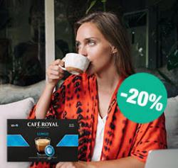 Café Royal: 20% auf kompatiblen Nespresso®** Pro Pads