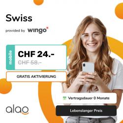 59% Rabatt auf das Wingo Swiss bei alao