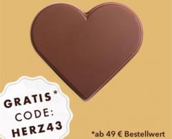 Gratis Schokoladen-Herz ab € 49.- Einkauf bei Rausch