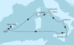 TUI Cruises Wochenendangebot: 9 Nächte Mittelmeer mit Salerno