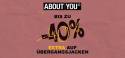 Bis zu 40% EXTRA auf Übergangsjacken bei ABOUT YOU!
